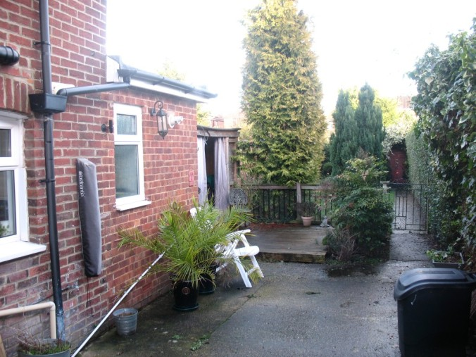 The back garden in our Victorian Cottage